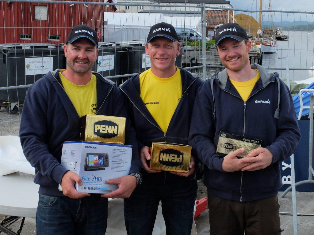 Team Trutta Garmin - Fra venstre Thore Grefstad, Stig Rønningen og Åsmund Isaksen. - Foto - Privat