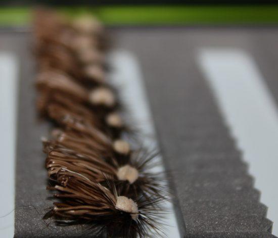 Fylling av tørrflueboksen i prioritert rekkefølge. Vårfluene først... Foto: Lasse Bøe