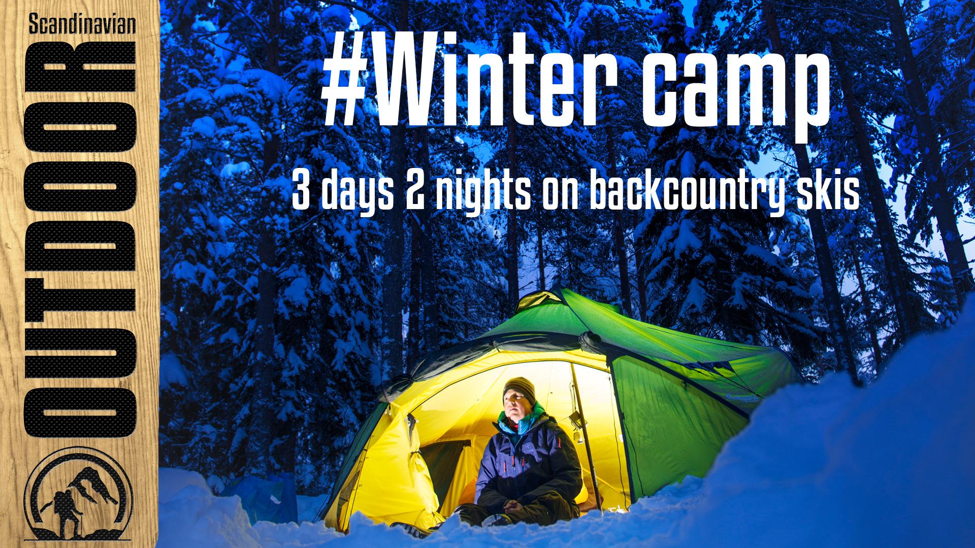 Vinter telttur i Nordmarka med fjellski og pulk Hooked