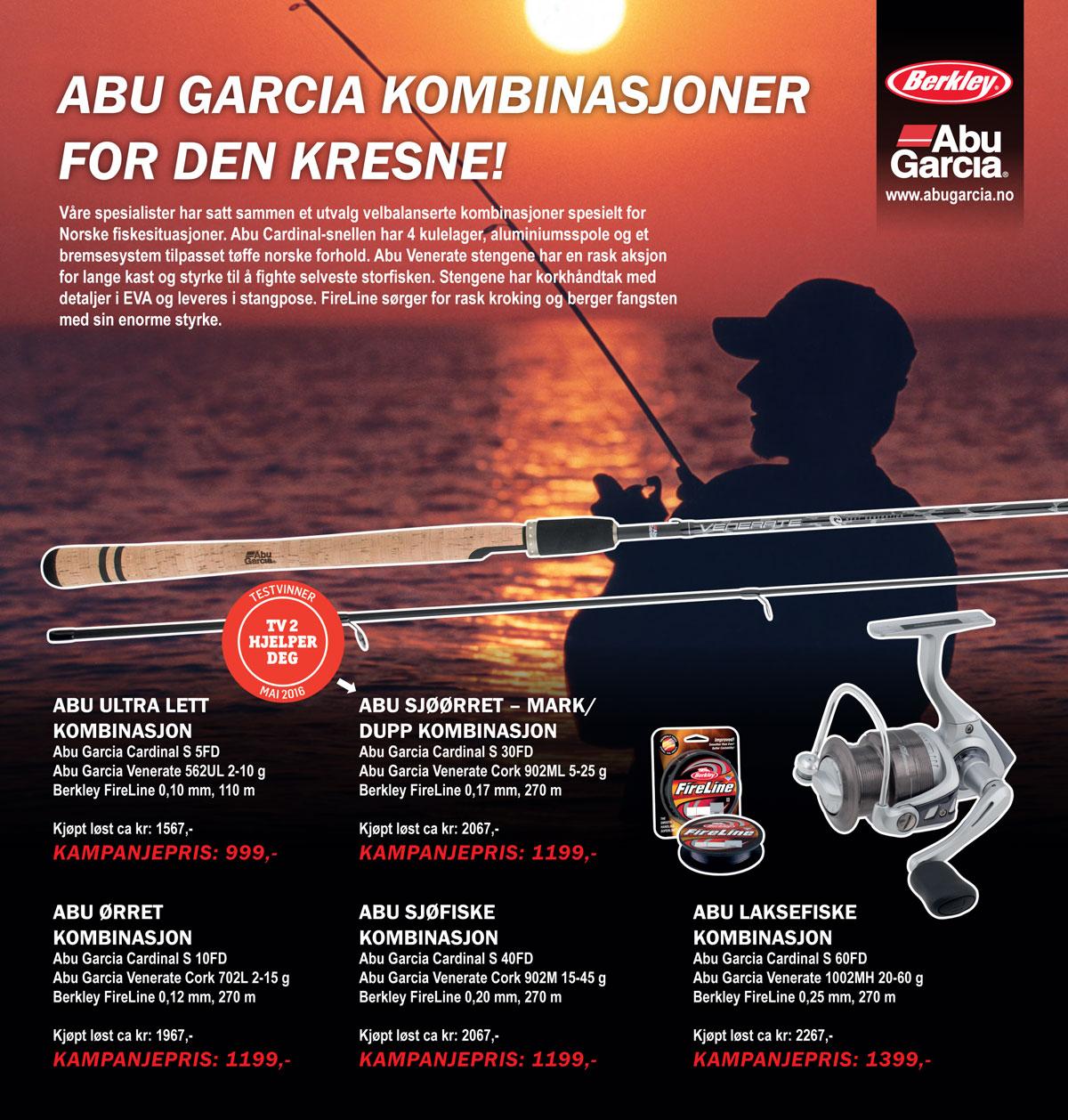 Abu Garcia kombinasjoner for den kresne - Fiskesett - Fiskestang - Fiskesnelle -Testvinner- TV Hjelper deg